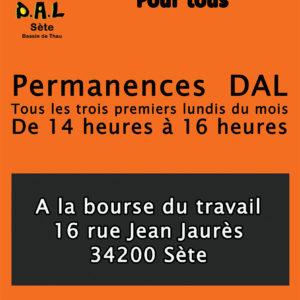 Le DAL du bassin de Thau reprend ses permanences à partir de lundi 6 septembre.